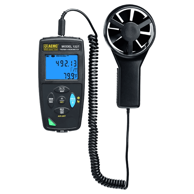 thermo-anemometer data logger